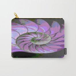 Spiral Abstract Shades of Purple's, Lilac, & Grey Patterns Carry-All Pouch