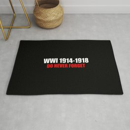 Commemoration WWI 1914-1918 Rug