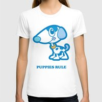 puppies T-shirts featuring Puppies Rule by Planet Perfect