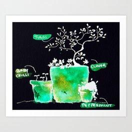 plant babies of the universe Art Print
