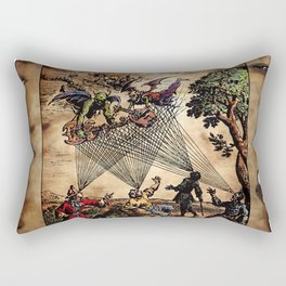 Medieval Minstrel Spirits Rectangular Pillow