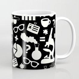 Black and White Science Pattern Coffee Mug