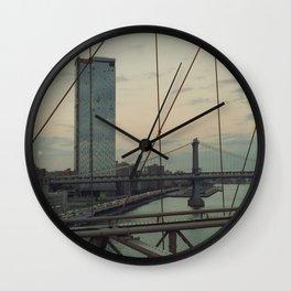 New York on Kodak Portra 400 Wall Clock