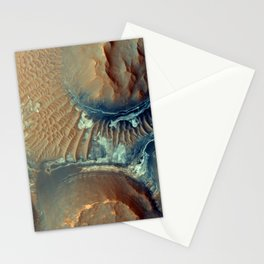 Mars - Deposits in Noctis Labyrinthus Stationery Cards