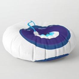 Blue Evil Eye Bead Floor Pillow
