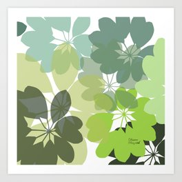 G. Flowers Shape Art Print