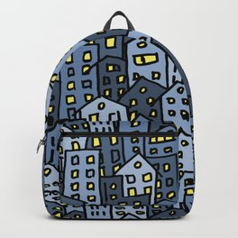 Crowded sleepy city Backpack