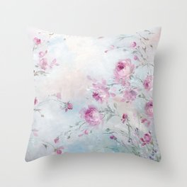 Rose Meadow Throw Pillow