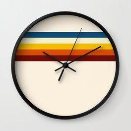Never-ending Summer Time Retro Stripe Wall Clock