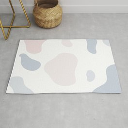 Moo patches - Butterfly pea colour series  Rug