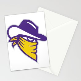Bandit Covered Face Icon Stationery Cards