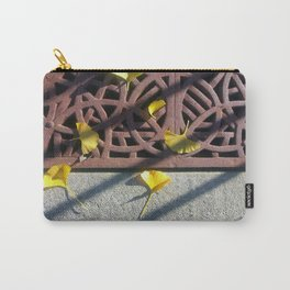 Grate and Ginko Leaves Carry-All Pouch