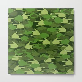 Handy Camo GREEN Metal Print