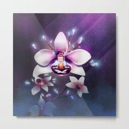 Orchid Meditation Metal Print