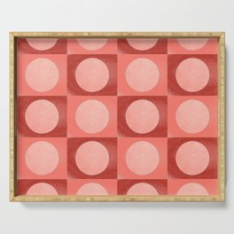 New York Moon Minimalism Living Coral Jester Serving Tray