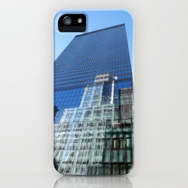Looking up on 42nd Street iPhone Case