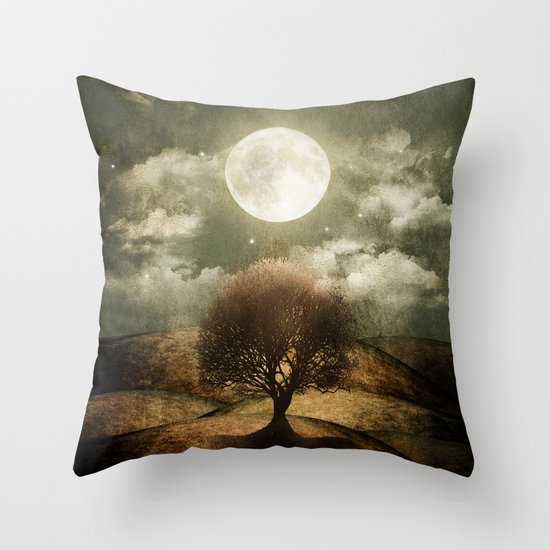 Once upon a time... The lone tree. Throw Pillow