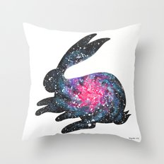Astral Bunny 1 Throw Pillow