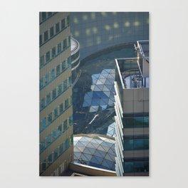 Urban river Canvas Print
