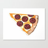 pizza Canvas Prints featuring Pizza by Sartoris ART
