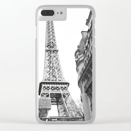 The Eifel tower in Paris Clear iPhone Case