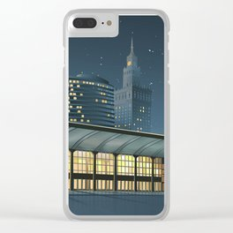 Monumental city at night Clear iPhone Case