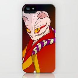 Cat kabuki iPhone Case