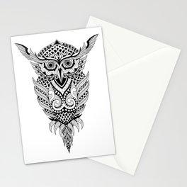 Black Owl Stationery Cards