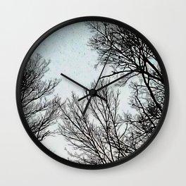 Morning Moon Wall Clock