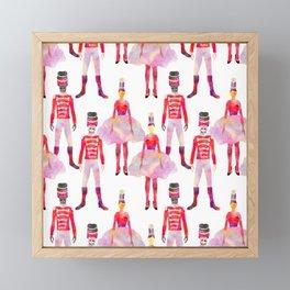 Nutcracker Ballet - White Framed Mini Art Print