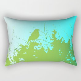 Bird in the Bush Rectangular Pillow