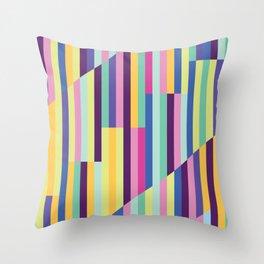 Rainbow Slanted Stripe Pattern Throw Pillow