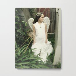 Angel in the Garden 2 Metal Print