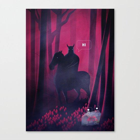 Dangerous Date Canvas Print
