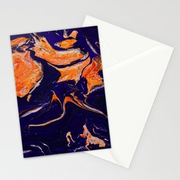 Abstract paint Art Stationery Cards