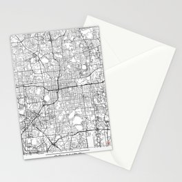 Orlando Map White Stationery Cards