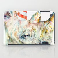party iPad Cases featuring Rhino's Party by Brandon Keehner
