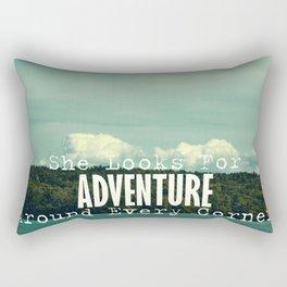 She Looks for Adventure  Rectangular Pillow