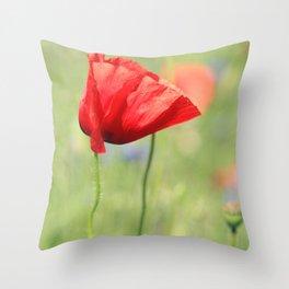 poppy flower no7 Throw Pillow