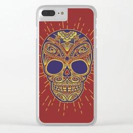 Golden catrina Clear iPhone Case