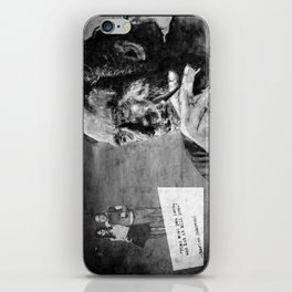 Charles Bukowski - love version - black iPhone Skin