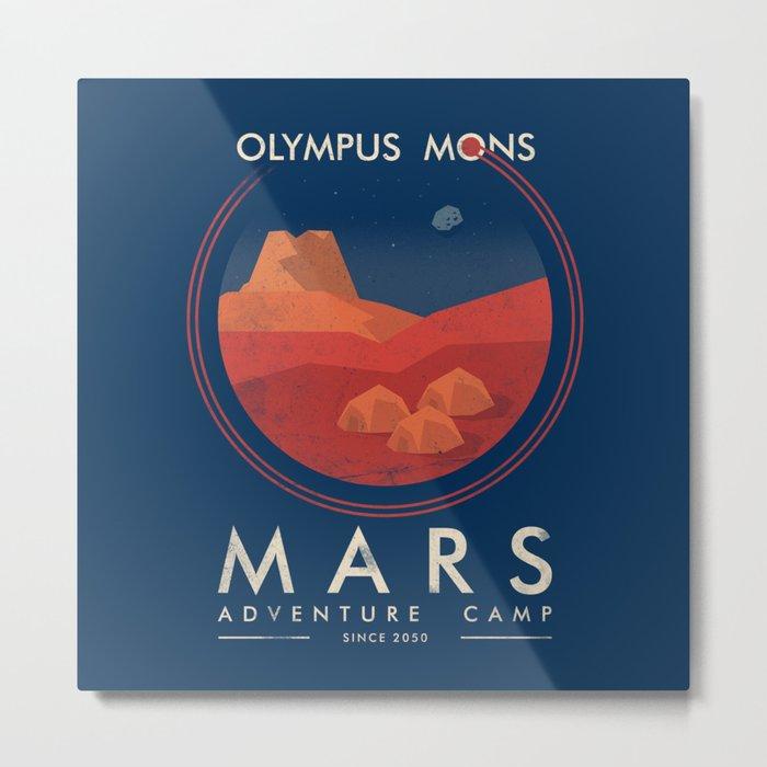 Mars Camp Metal Print