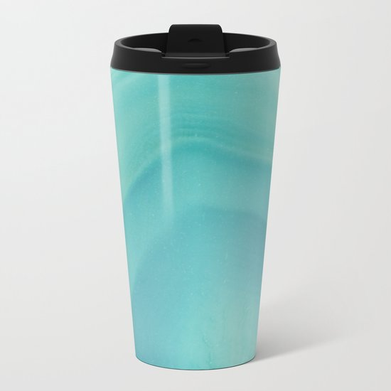Geode Crystal Turquoise Metal Travel Mug