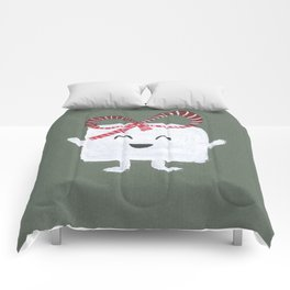 MyHappySquare with a bow Comforters