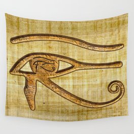 The Wadjet - Ancient Egyptian Eye of Horus Wall Tapestry