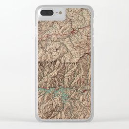 Vintage Great Smoky Mountains National Park Map (1963) Clear iPhone Case
