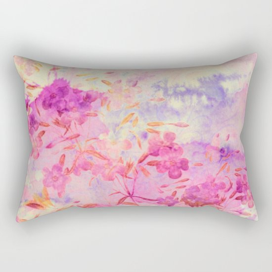 pink flowers and blue sky Rectangular Pillow