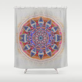 Holy Roller Glowing Boho Meditation Neo Tribal Mandala Shower Curtain
