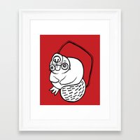 beaver Framed Art Prints featuring Beaver by JuPON