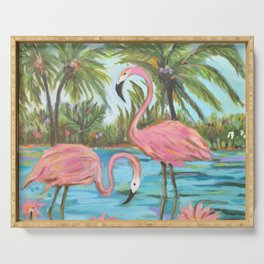 Pink Flamingos Serving Tray